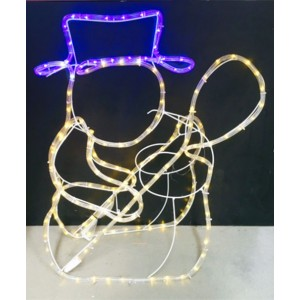 Rope lights decorative lights 3d led rope light snowman motif aloadofball Gallery