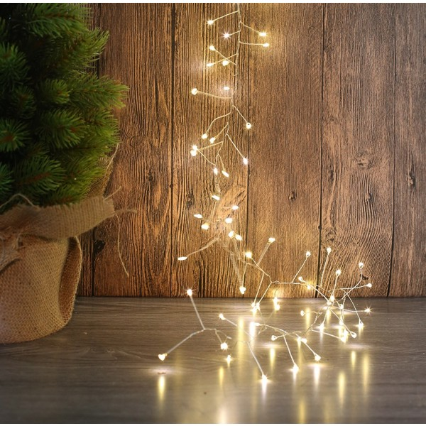 400 micro led cluster light warm white christmas more